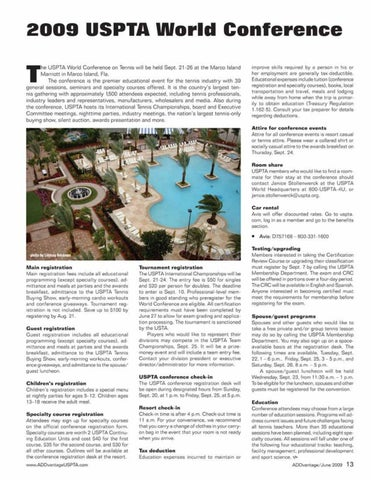 Page 15 of 2009 USPTA World Conference