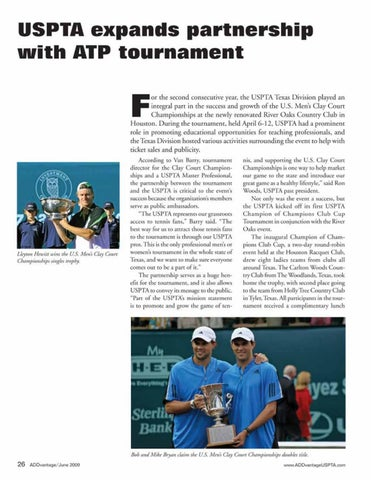 Page 28 of USPTA expands partnership with ATP tournament