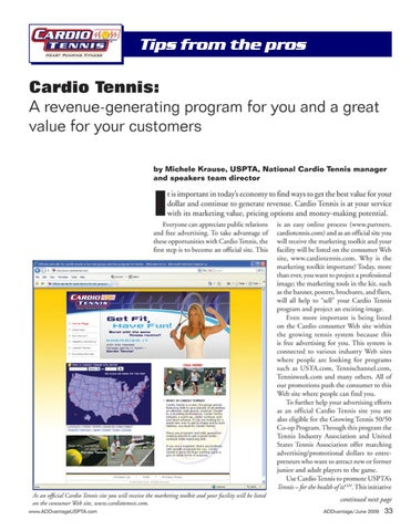 Page 35 of Cardio Tennis: A revenue-generating program for you and a great value for your customers