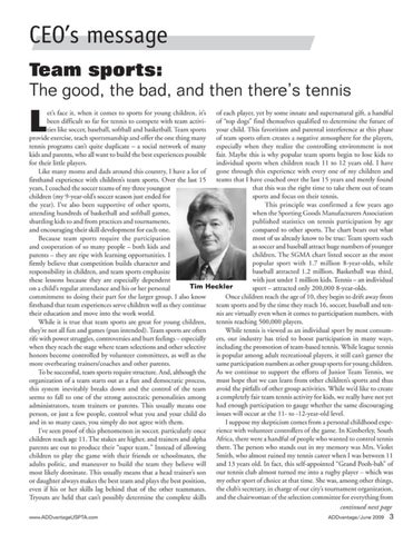 Page 5 of Team sports: The good, the bad, and then there is tennis.