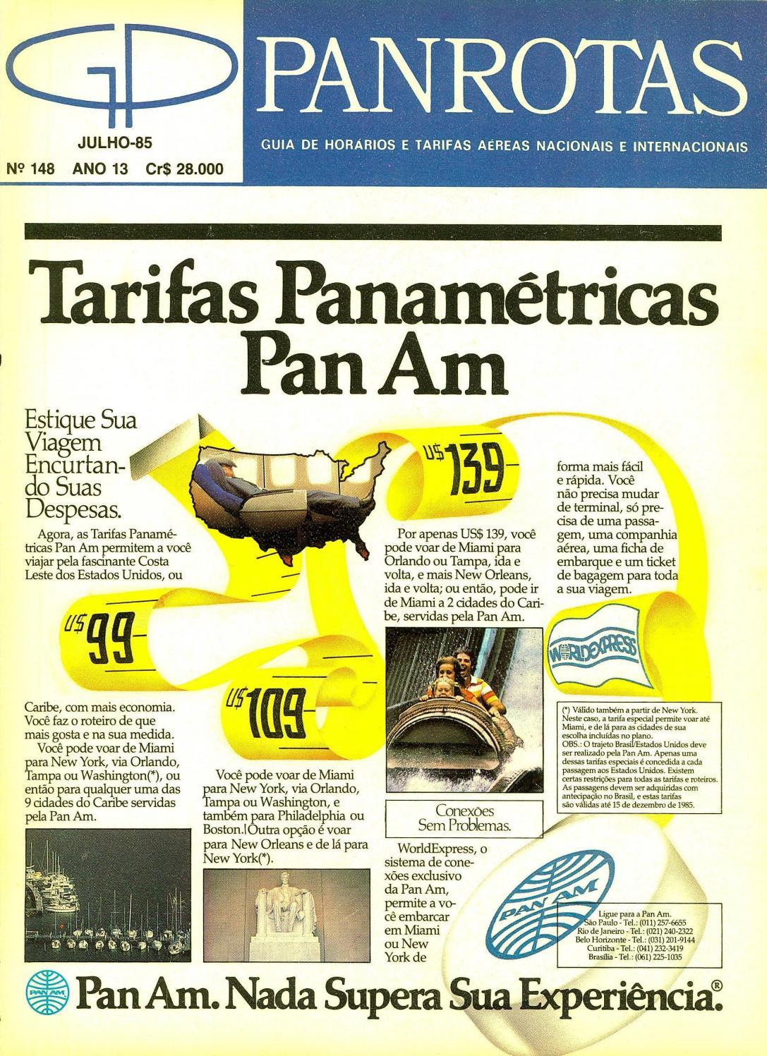 aab25c7021c Guia PANROTAS - Edição 148 - Julho 1985 by PANROTAS Editora - issuu