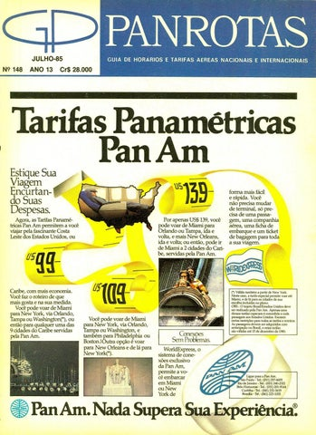 a3f3f873e Guia PANROTAS - Edição 148 - Julho 1985 by PANROTAS Editora - issuu