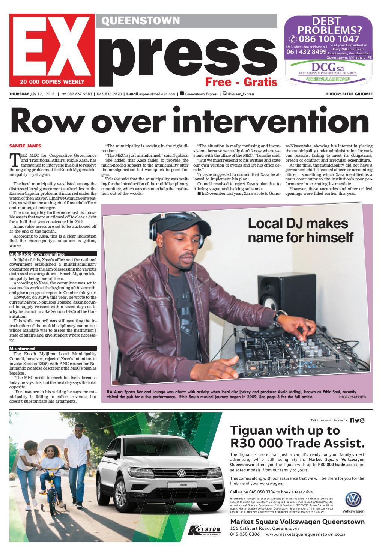 Queenstown Express 12 July 2018 by Queenstown Express - issuu