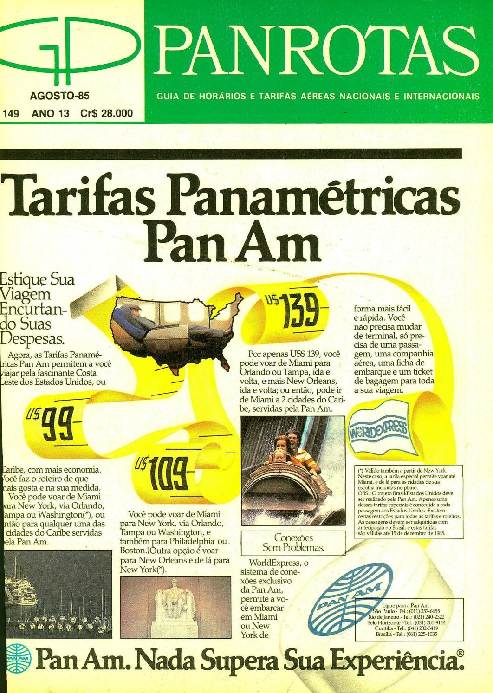 0a74a9f82 Guia PANROTAS - Edição 149 - Agosto 1985 by PANROTAS Editora - issuu