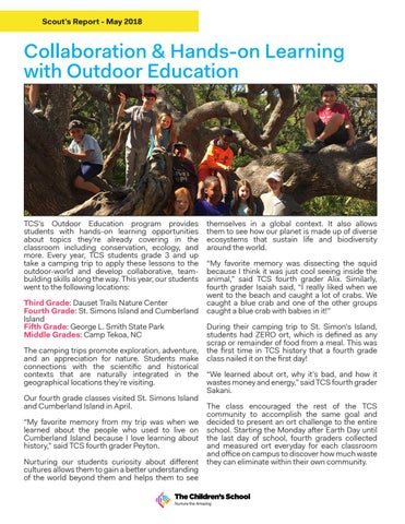 Page 2 of Campfire Stories: Collaboration & Hands-on Learning with Outdoor Education