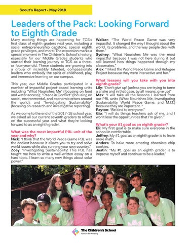 Page 3 of Leaders of the Pack: Looking Forward to 8th Grade