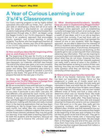 Page 4 of A Year of Curious Learning in our 3's/4's Classrooms