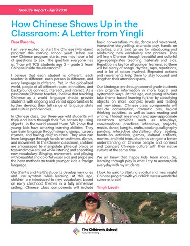 Page 3 of How Chinese Shows Up in the Classroom: A Letter from Yingli