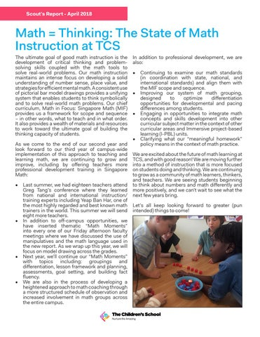 Page 4 of Math = Thinking: The State of Math Instruction at TCS