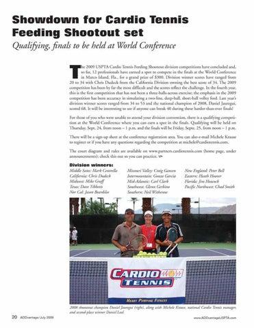 Page 22 of Showdown for Cardio Tennis Feeding Shootout set