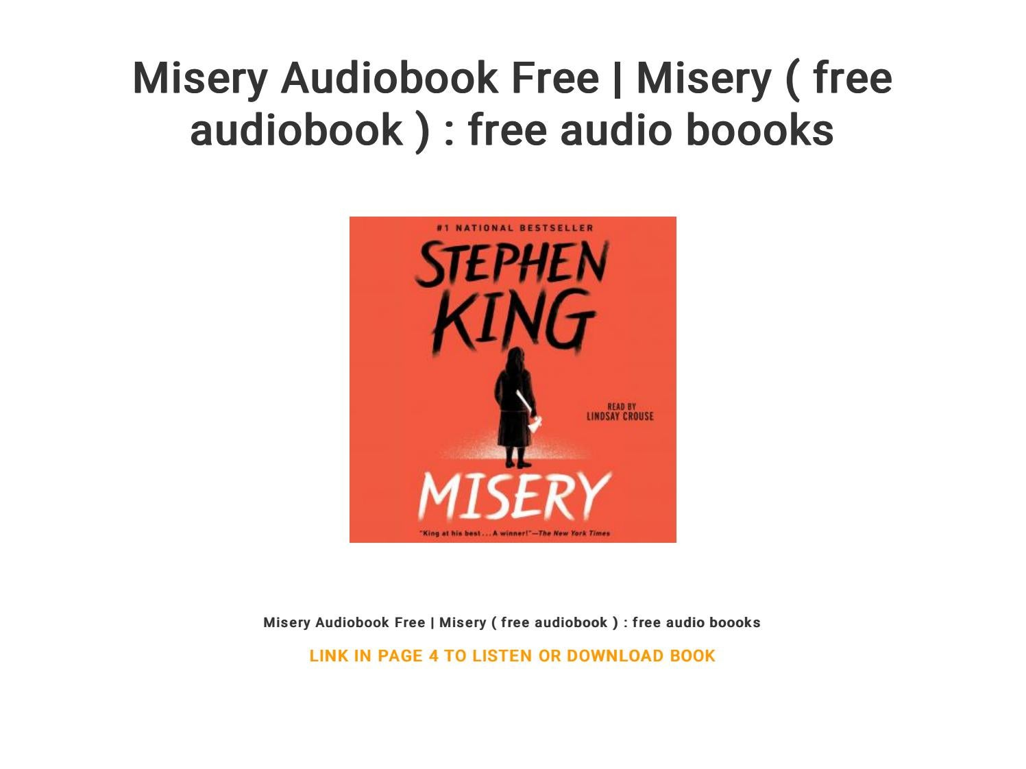 Misery Audiobook Free   Misery ( free audiobook ) : free