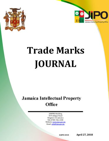 Astounding April 2018 Tm Journal By Jamaica Intellectual Property Office Issuu Wiring Database Obenzyuccorg
