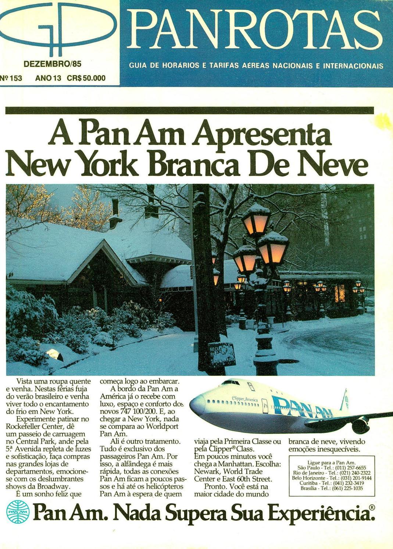 0e625a24f Guia PANROTAS - Edição 153 - Dezembro 1985 by PANROTAS Editora - issuu