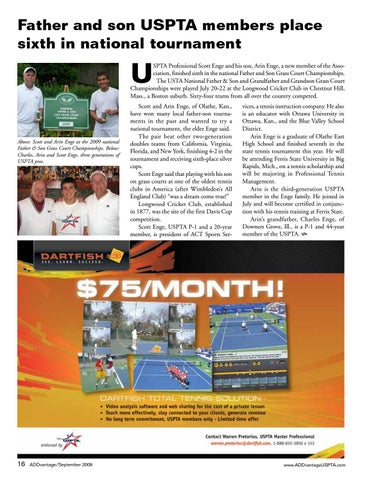 Page 16 of Father and son USPTA members place sixth in national tournament