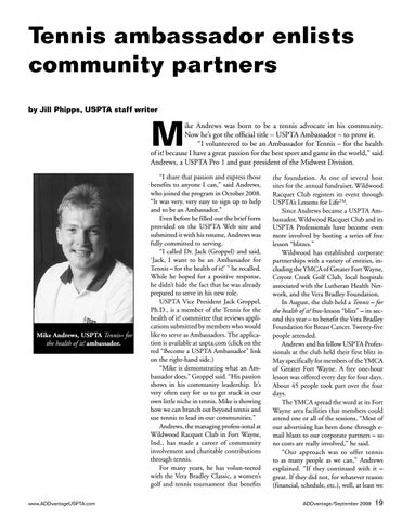 Page 19 of Tennis ambassador enlists community partners