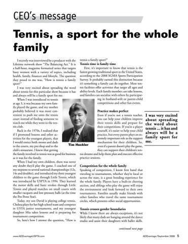 Page 5 of Tennis, a sport for the whole family