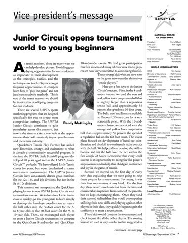 Page 7 of Junior Circuit opens tournament world to young beginners