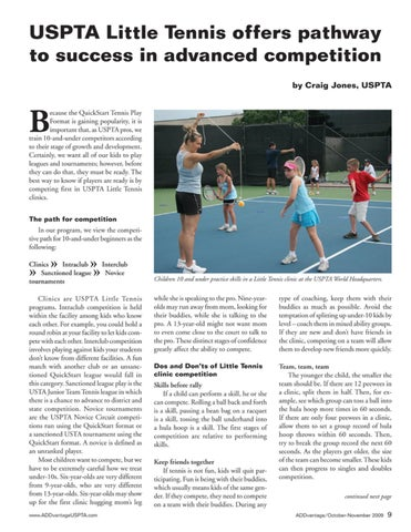 Page 11 of USPTA Little Tennis offers pathway to success in advanced competition