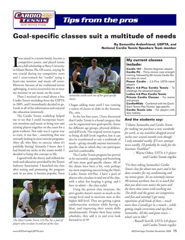 Page 17 of Goal-specific classes suit a multitude of needs
