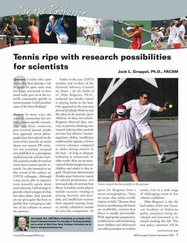 Page 9 of Tennis ripe with research possibilities for scientists