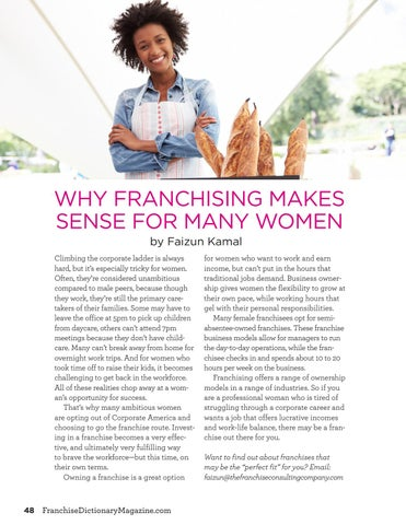 Page 48 of Why Franchising Makes Sense for Many Women