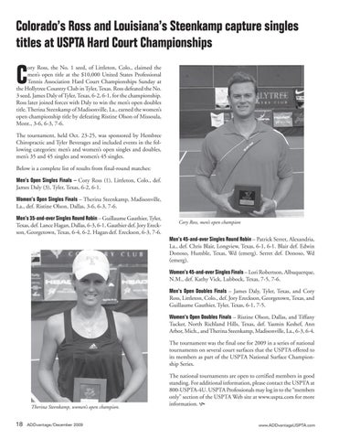 Page 20 of Colorado's Ross and Louisiana's Steenkamp capture singles titles at USPTA Hard Court Championships