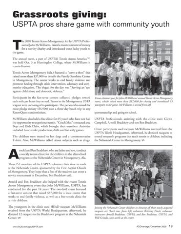 Page 21 of Grassroots giving: USPTA pros share game with community youth