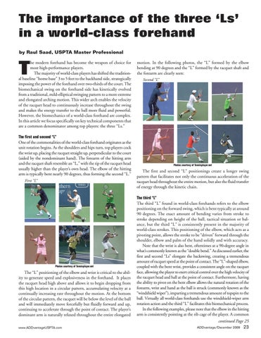 Page 25 of The importance of the three 'Ls' in a world-class forehand