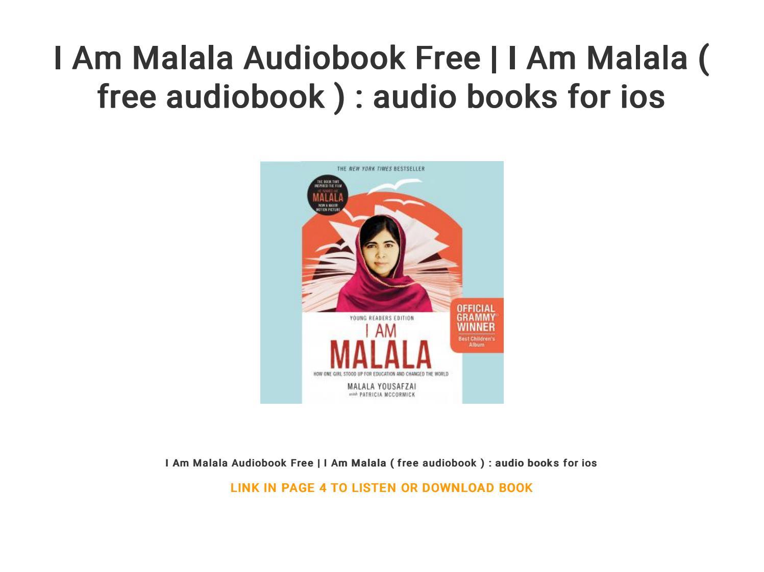 I Am Malala Audiobook Free   I Am Malala ( free audiobook