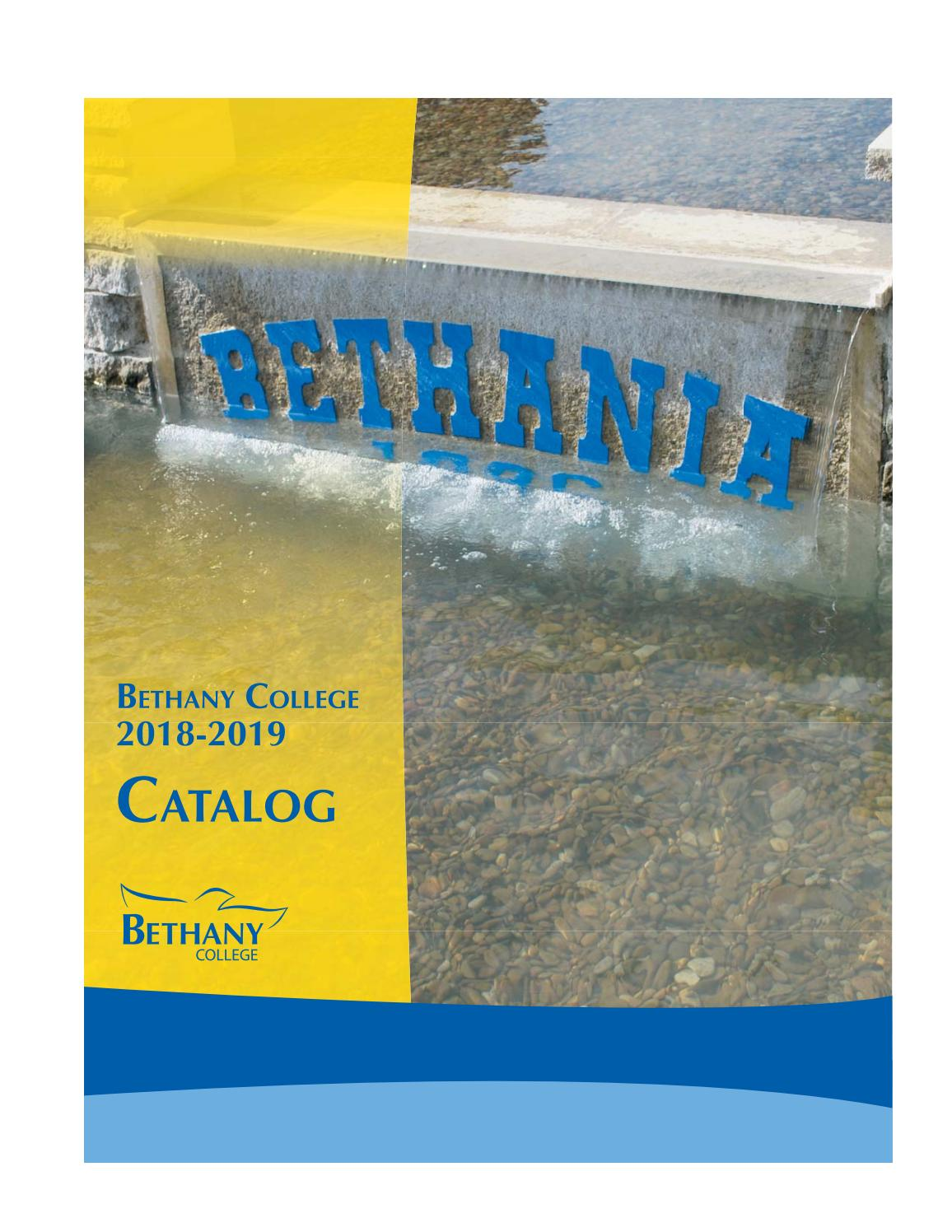 Bethany College 2018 2018 Catalog By Bethany College Issuu