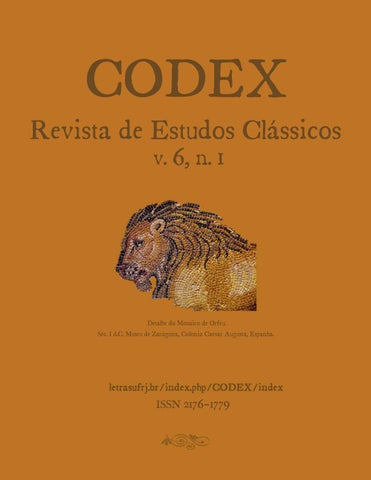 d440115f34874 Codex v.6, n.1 (2018) by Codex - Revista de Estudos Clássicos - issuu