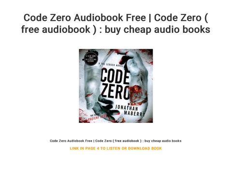 Code Zero Audiobook Free | Code Zero ( free audiobook ) : buy cheap
