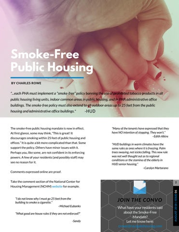Page 2 of Going Smoke-Free in Public Housing
