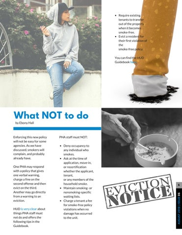 Page 6 of New Smoke-Free Policy? Here's what NOT to do...