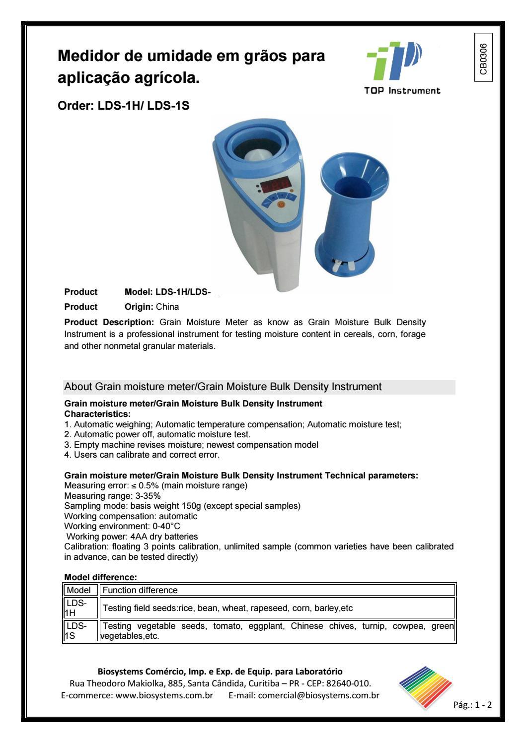Cb0306 top lds 1h 1s 1g by Biosystems Importadora Ltda - issuu
