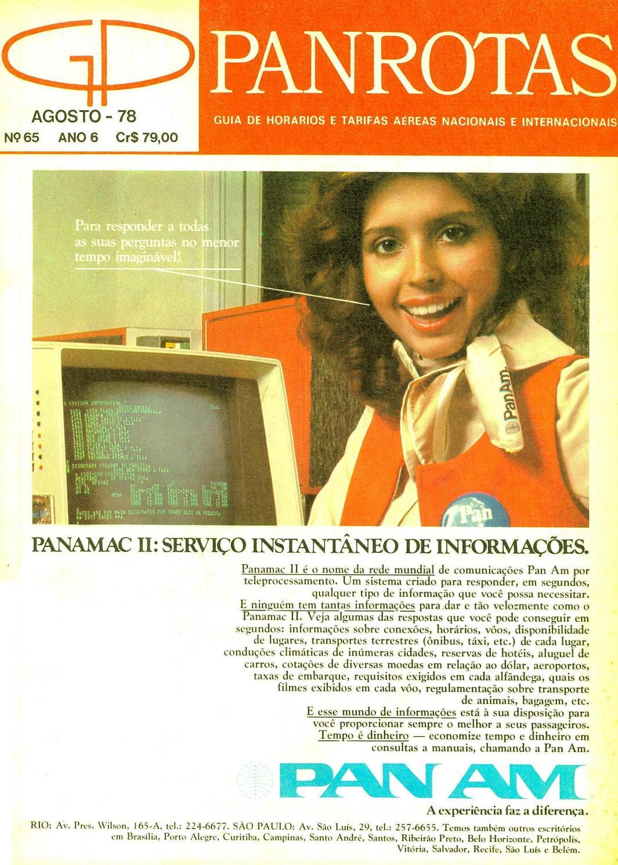 fea5fa2e1bc7d Guia PANROTAS - Edição 65 - Agosto 1978 by PANROTAS Editora - issuu