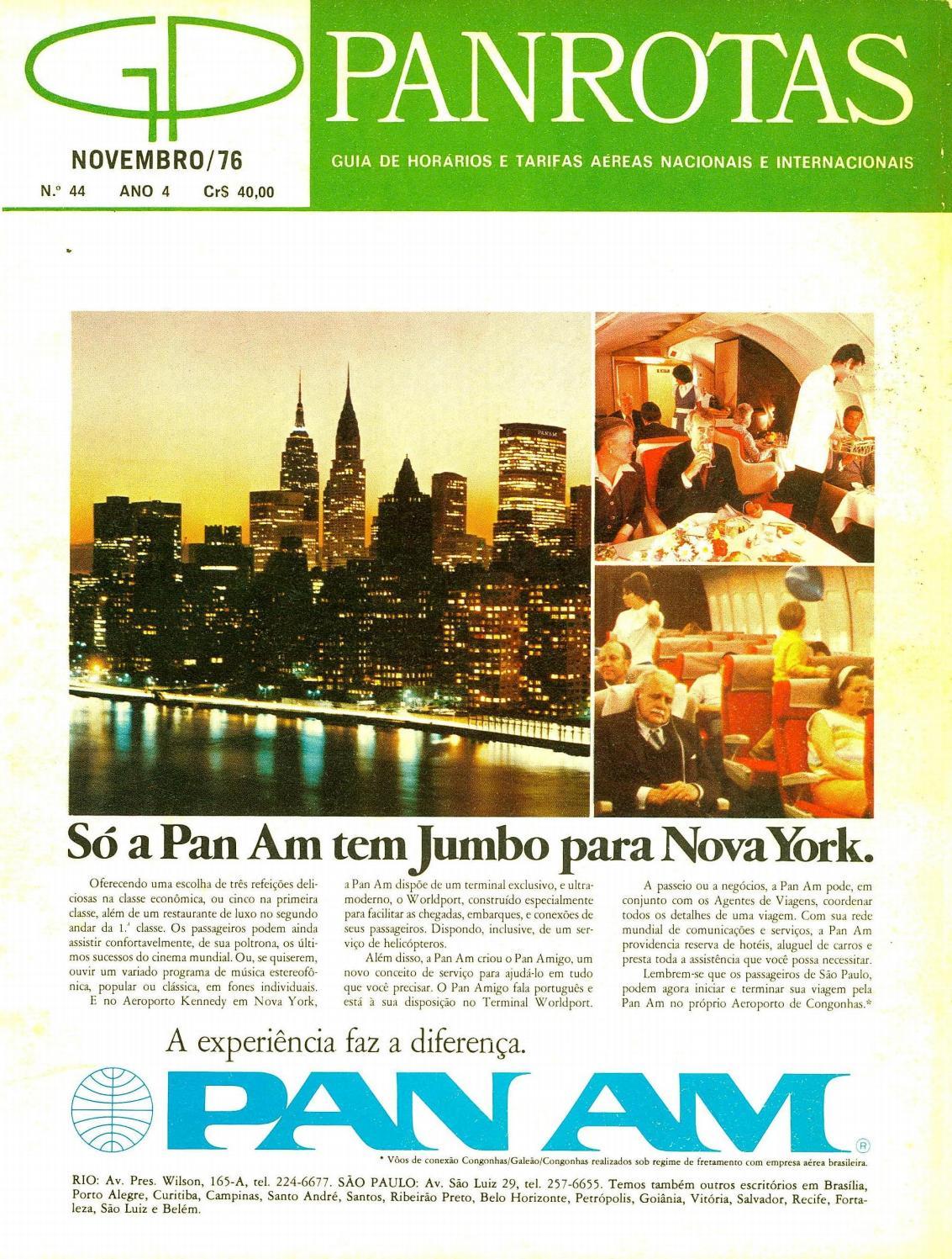 d709d3fd0 Guia PANROTAS - Edição 44 - Novembro/1976 by PANROTAS Editora - issuu