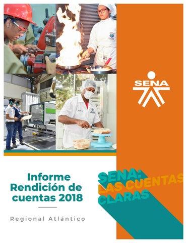 Informe Rendición De Cuentas 2018 Regional Atlántico By