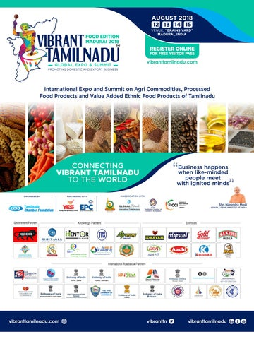 National and International Promotions: Vibrant Tamilnadu Food Expo
