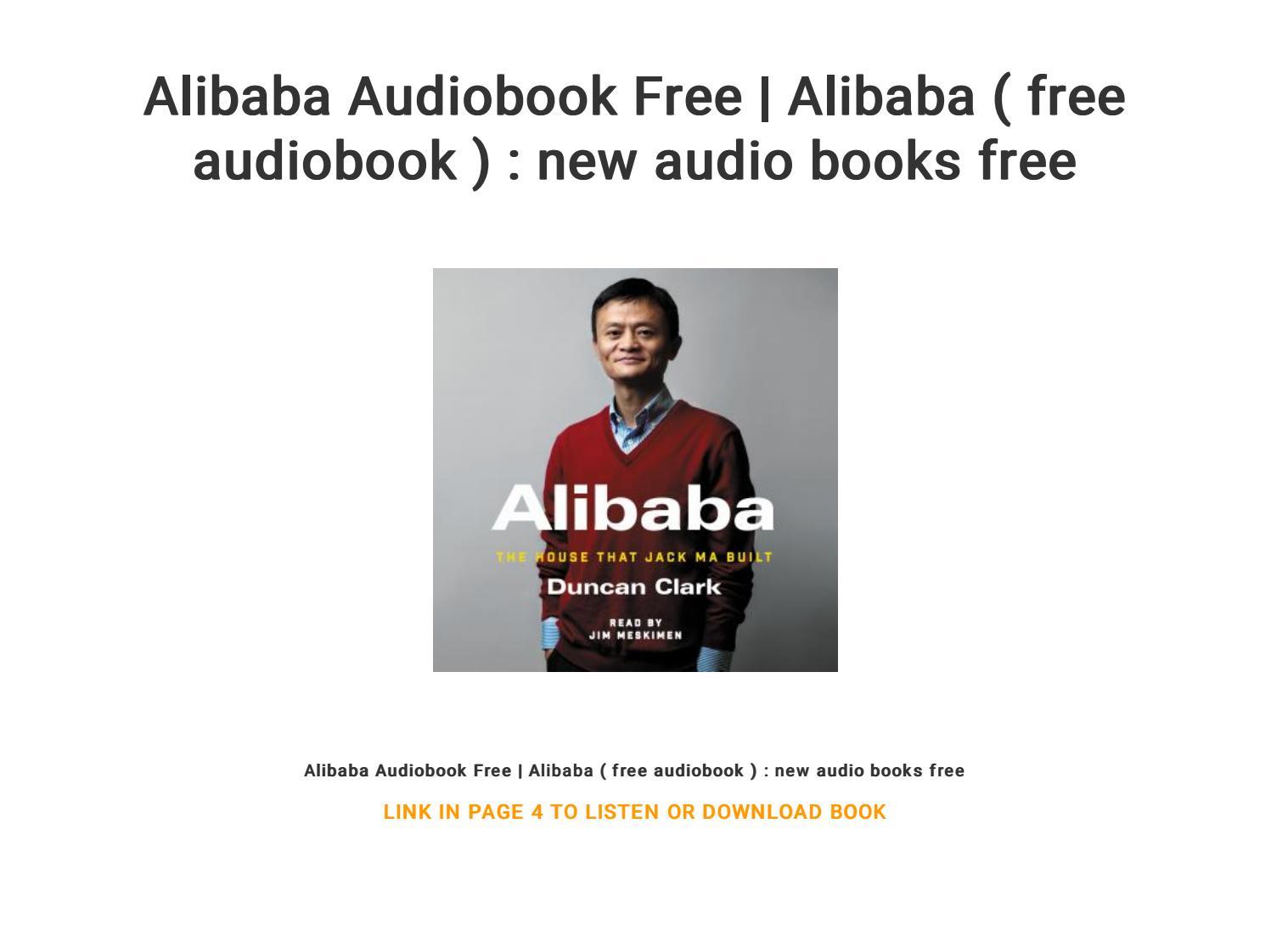 Alibaba Audiobook Free Alibaba Free Audiobook New Audio