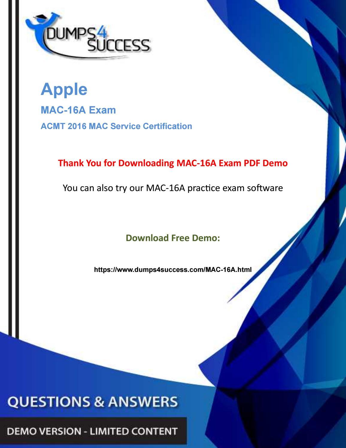 Acmt Mac 16a Dumps Questions Pass Apple Network Field Technician