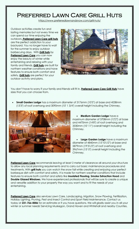 Preferred Grand Haven >> Preferred Lawn Care Grill Huts By Preferedlawncare Issuu