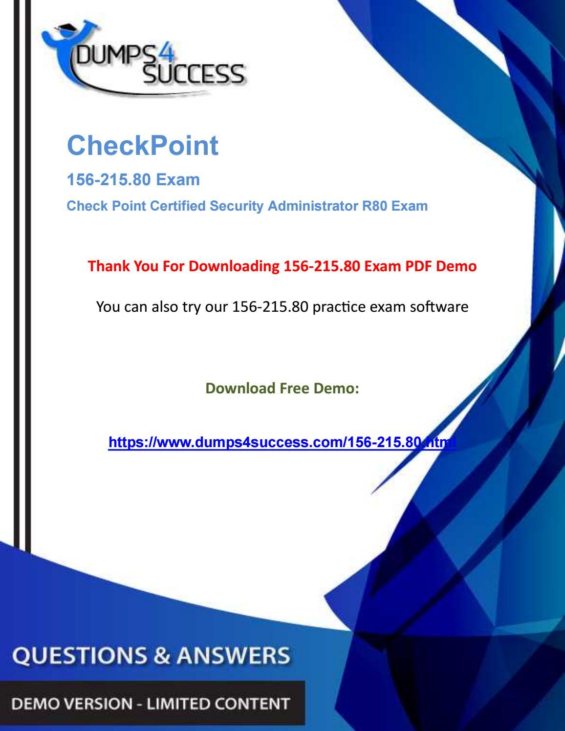 CCSA 156-215 80 Dumps Questions - Pass CheckPoint Network