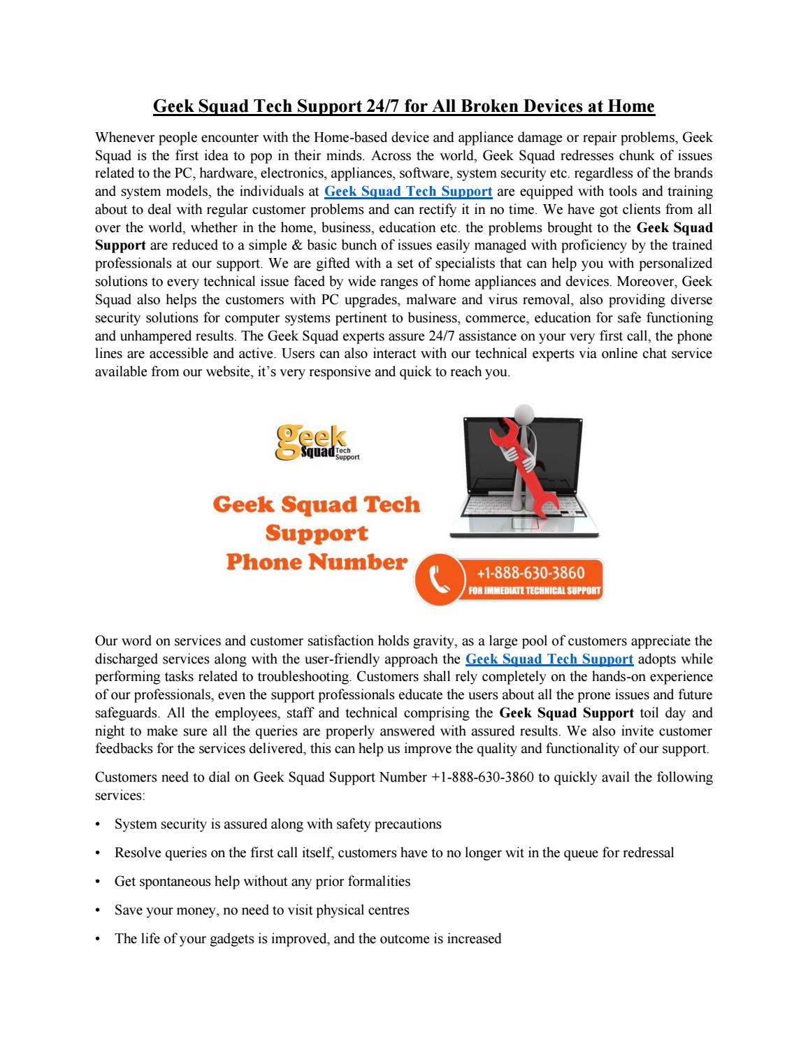 Geek Squad Tech Support 24/7 for All Broken Devices at Home by Tech Support  - issuu