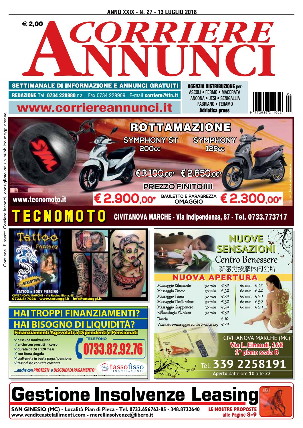 reputable site 51105 3d338 Corriere 27-2018 by Corriere Annunci - issuu