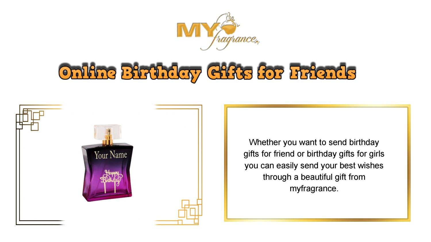 Online Birthday Gifts For Friends