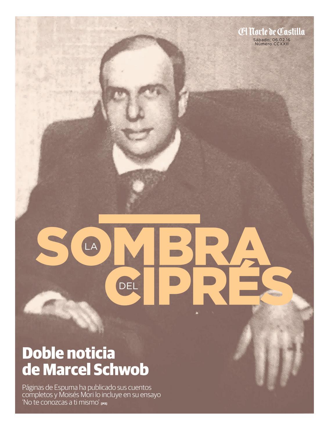 Doble noticia de Marcel Schwob by El Norte de Castilla - issuu