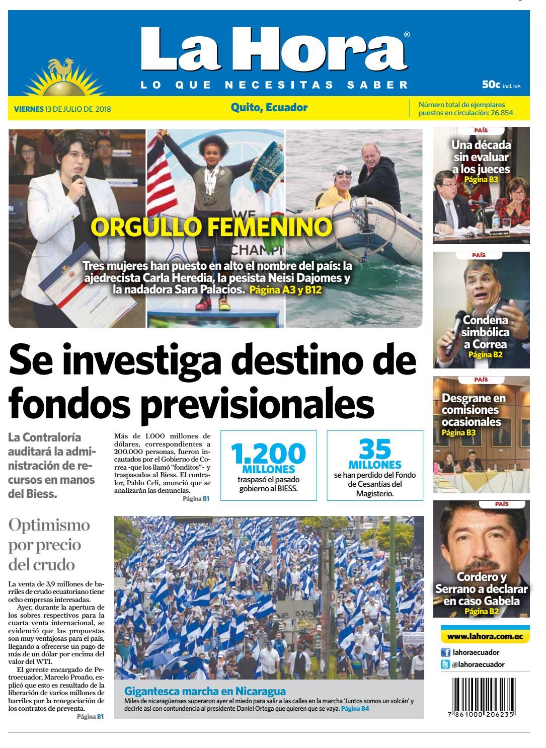 Quito 13 de julio de 2018 by Diario La Hora Ecuador - issuu 0be350f4755