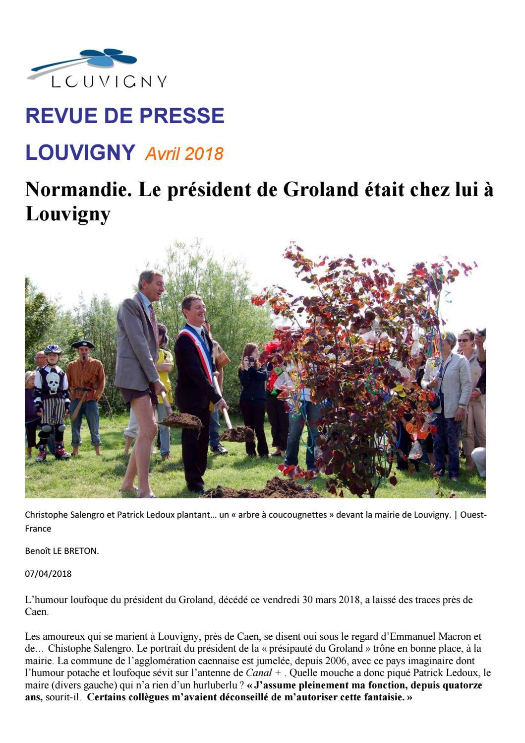 Revue De Presse Avril 2018 By Mairie De Louvigny Issuu