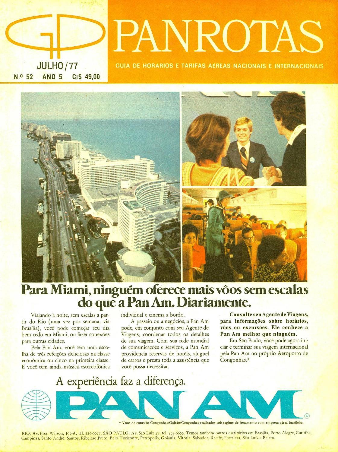 429f8def0 Guia PANROTAS - Edição 52 - Julho 1977 by PANROTAS Editora - issuu